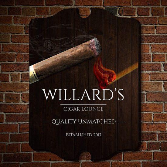 Custom Cigar Lounge Sign