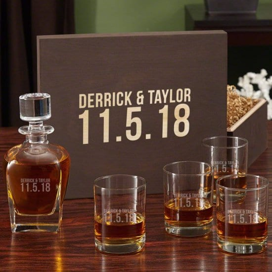 A Personalized Decanter Set is the Perfect Wedding Gift