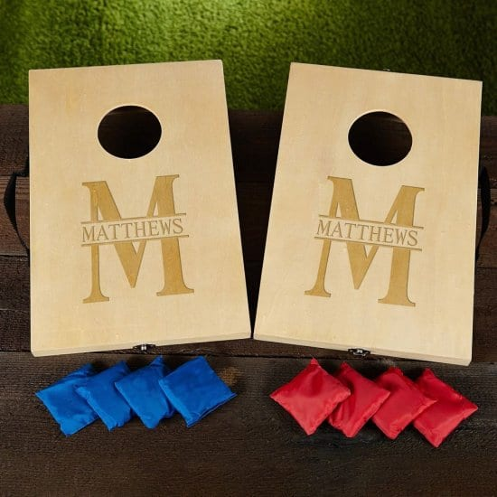 Personalized Bean Bag Toss Game for Wedding Reception