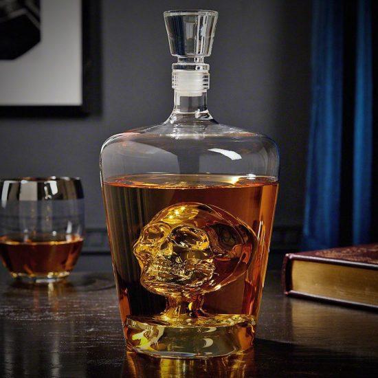 Crystal Skull Liquor Decanter