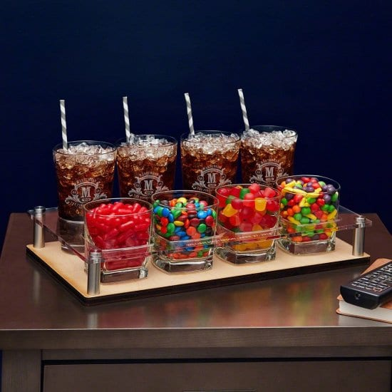Snack and Drink Serving Set for Mom and Dads Home Theater