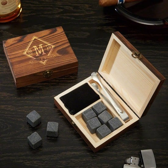 Personalized Whiskey Stone Set is A Great and Cheap Gift for Men