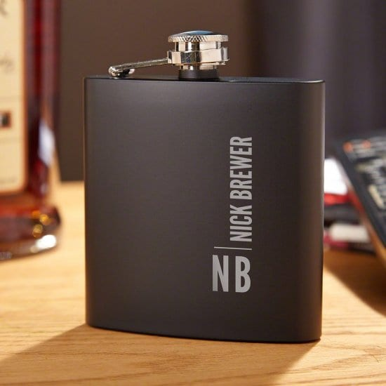 Black Metal Flask Gift Guys Will Take Everywhere