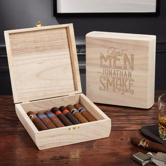 Personalized Cigar Box for the Man Who Has Everything