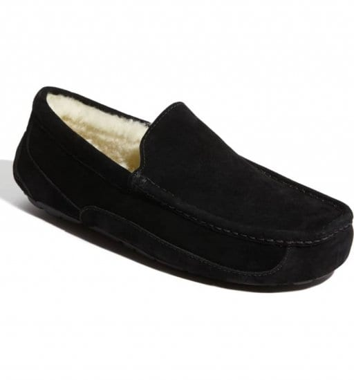Black Suede Slippers