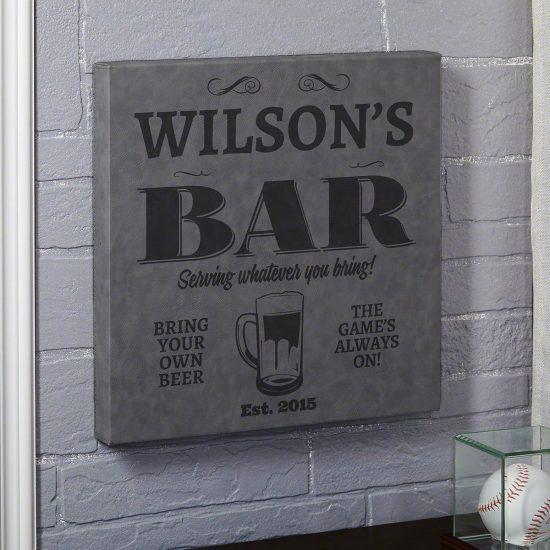 Cool Custom Canvas Bar Sign