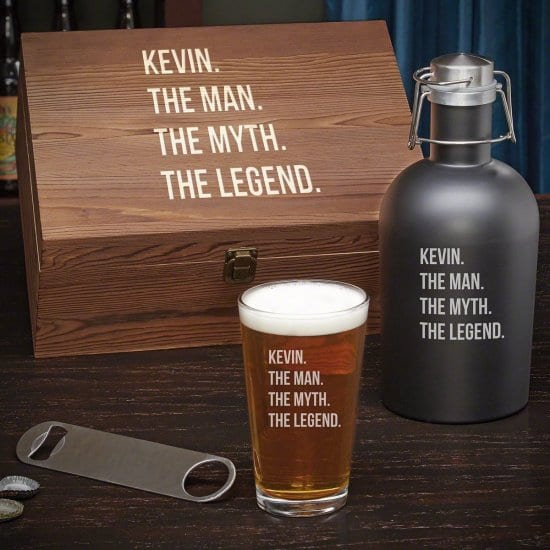 Beer Box Set with Growler and Pint Glass