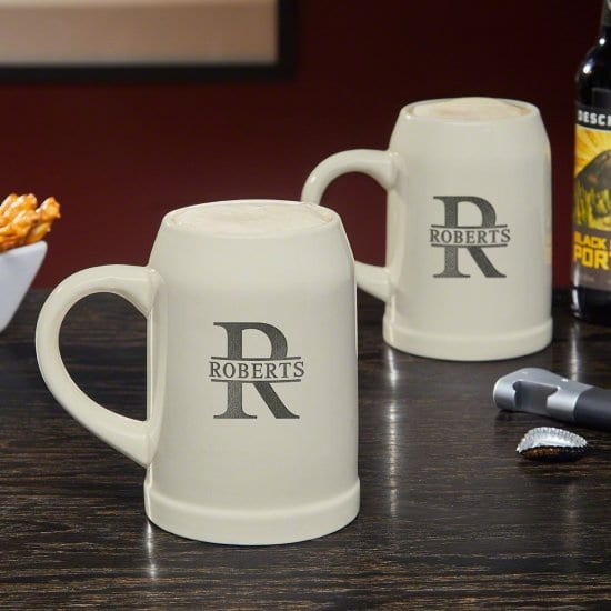Set of 2 Personalized Beer Mugs