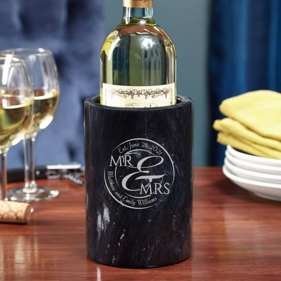 A Marble Wine Chiller is the Best Personalized Wedding Gift