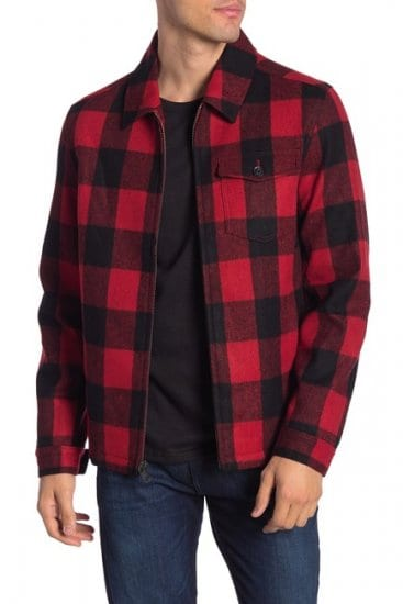 Buffalo Plaid Wool Blend Jacket