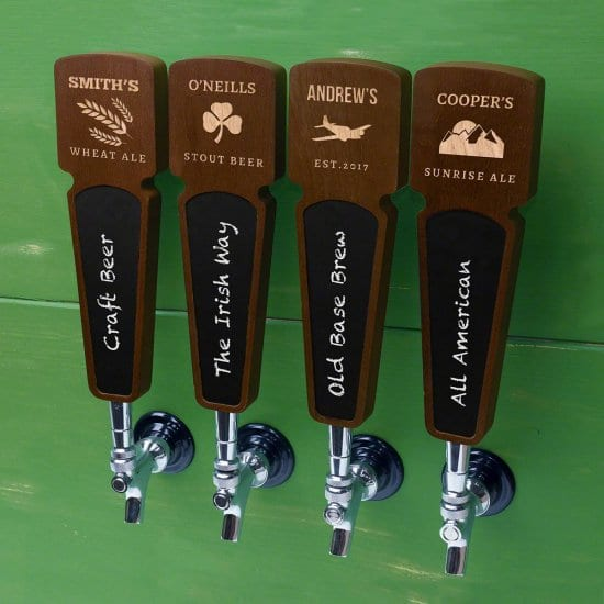 Keg Tap Handles for Dad's Homebrew