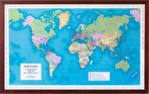 Personalized Map of Their Travels