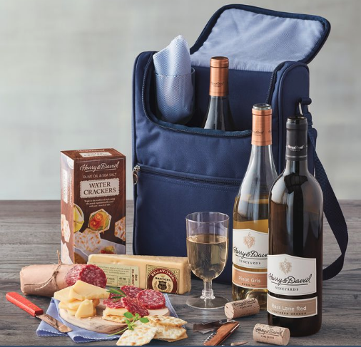 Picnic Basket Gift Set for a Romantic Anniversary Date