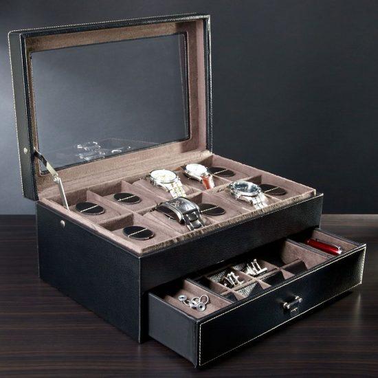 Watch Storage Case Birthday Gift for 50 Year Old Man