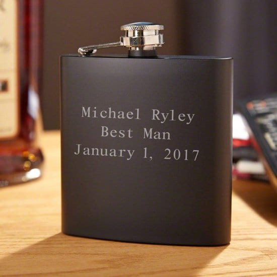 Engraved Liquor Flask