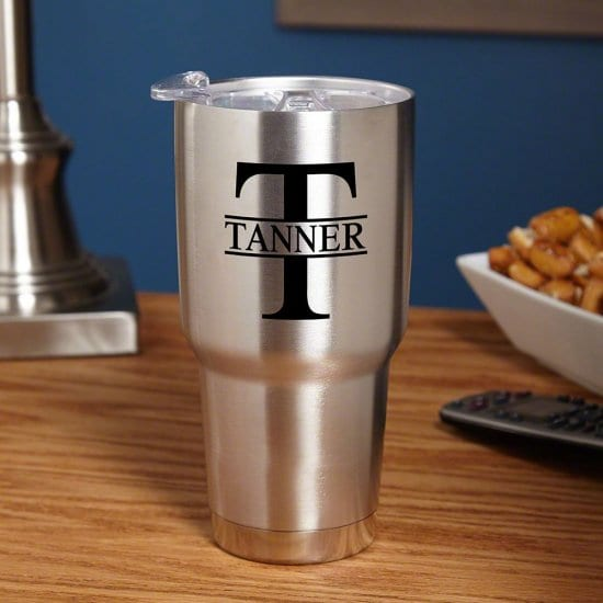 Personalized Stainless Steel Travel Tumbler