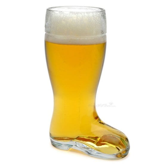 Traditional German Beer Boot is one of the Best Beer Glasses