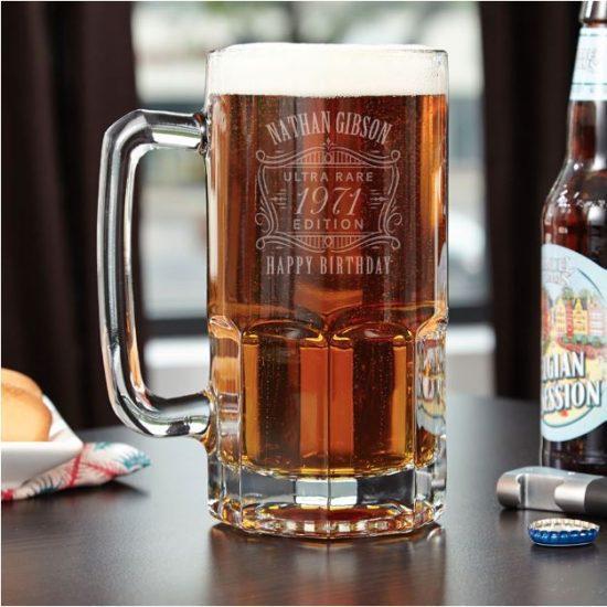 Custom Giant Beer Mug 50th Birthday Gift