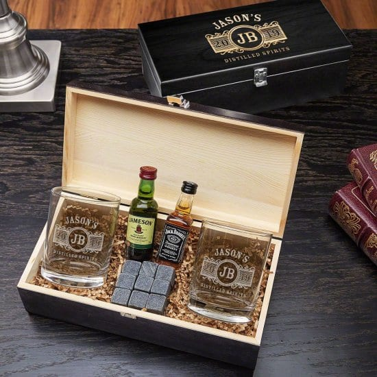 Personalized Whiskey Glasses Set of Anniversary Gifts for Parents