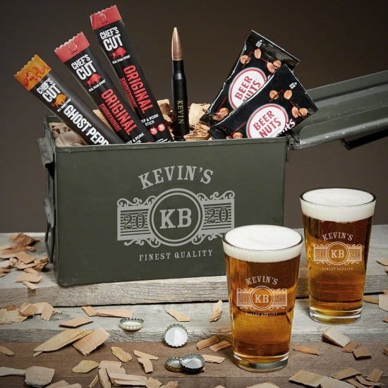 First Year Anniversary Gifts Beer Ammo Can Set