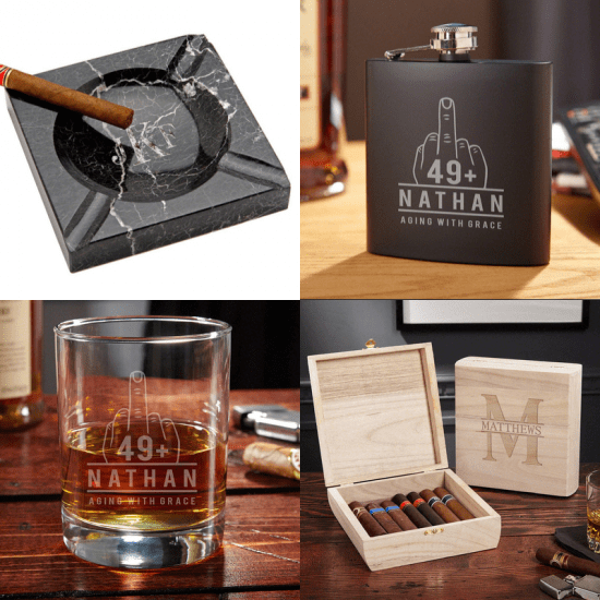 Funny Cigar Gift Set for 50th Birthday Gift
