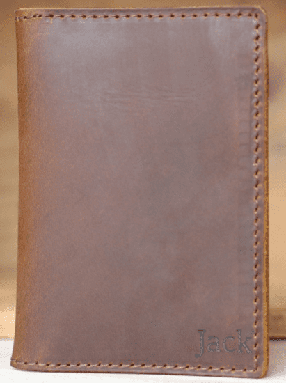 Engraved Leather Wallet from Northern Royal