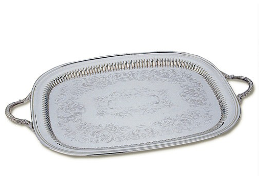 Antique Silver Serving Tray