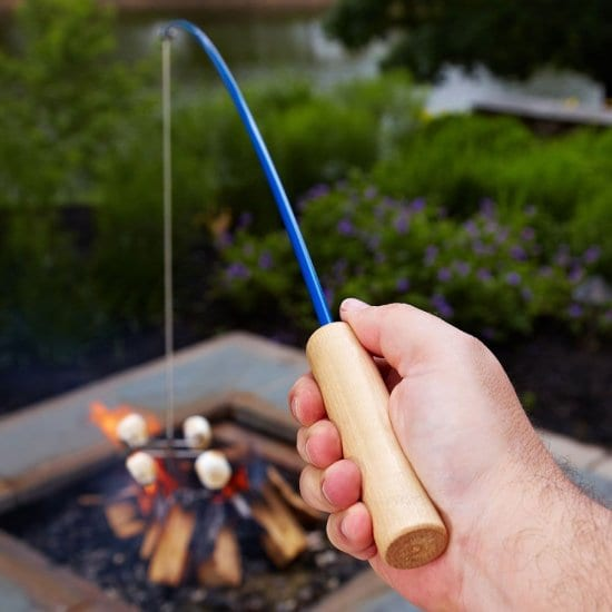 Campfire Fishing Rod So the Family Can Make Smores