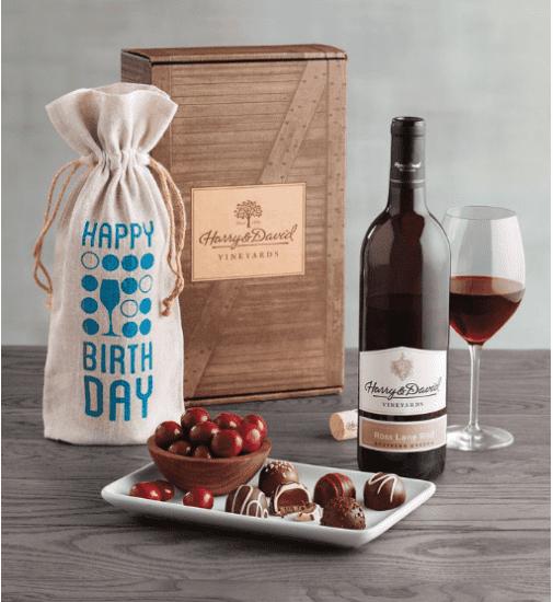 Red Wine and Chocolate Truffles Gift Set