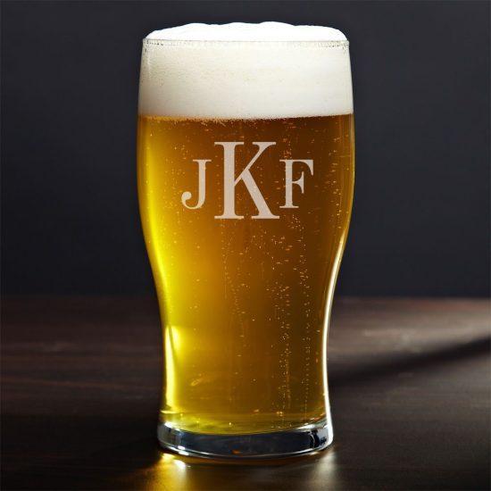 Monogrammed Tulip Beer Glass