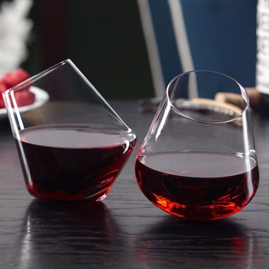 Rolling Wine Glasses