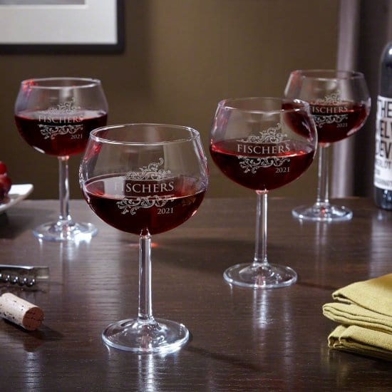 Personalized Red Wine Goblets