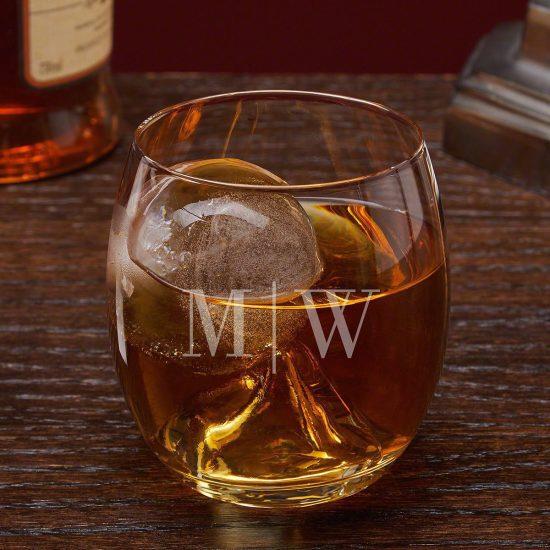 Roller Rocks Whiskey Glass