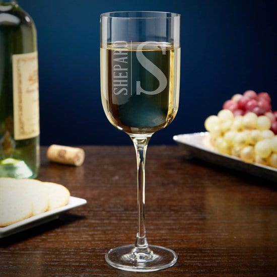 Custom Tall Classic White Wine Glass