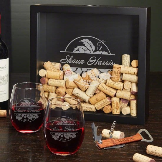 Custom Wine Glasses Gift Set