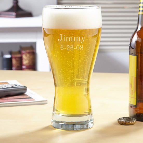 Customizable Pilsner Beer Glass