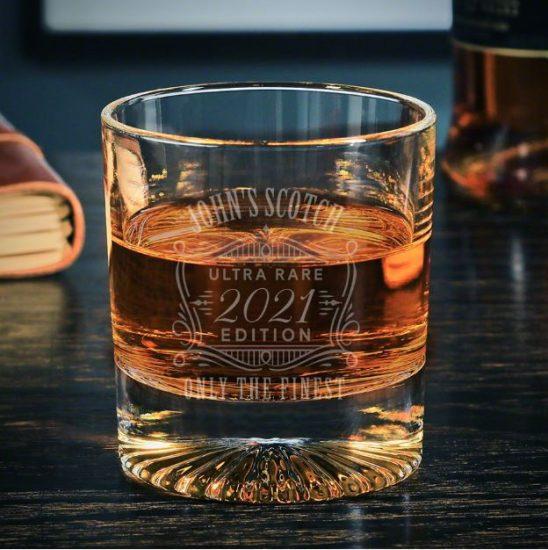 Custom Starburst Scotch Glass