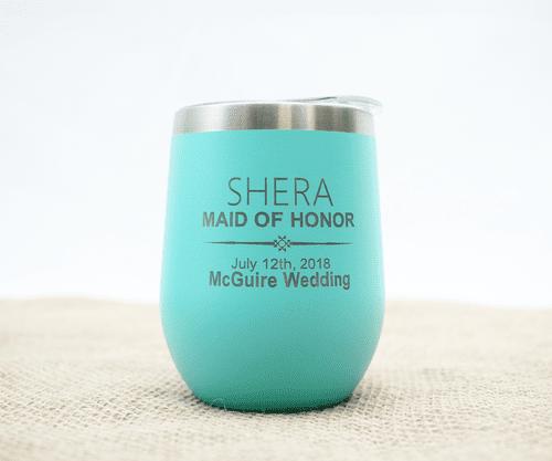 Customizable Wedding Party Wine Tumbler