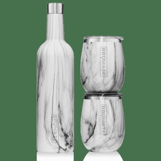Set of 2 Stainless Steel Wine Tumblers