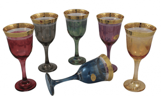 Medieval Colorful Wine Goblets
