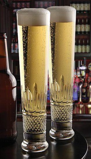 Crystal Beer Flutes