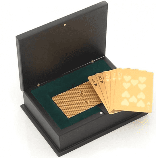 24K Gold Dipped Playing Cards
