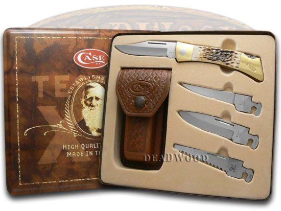 Pocket Knife Gift Set with Additional Blades