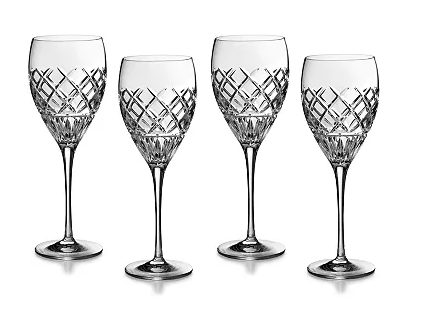 Set of Four Waterford Crystal Wine Glasses