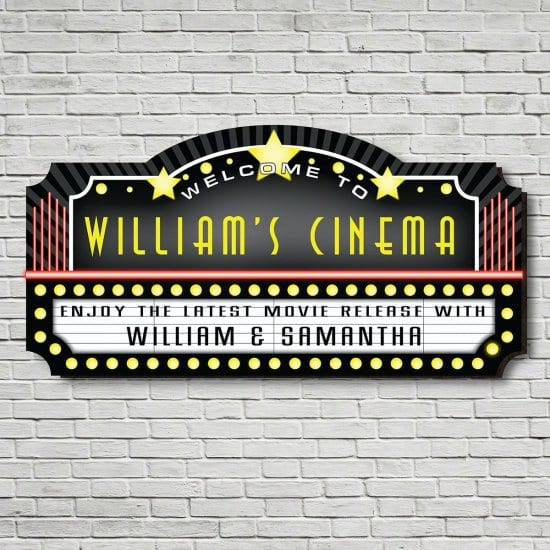 Custom Marquee Home Theater Sign