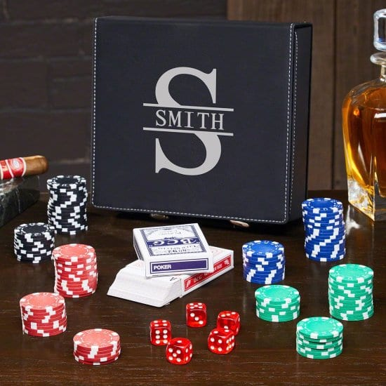 Personalized Poker Set is a Birthday Gift for Brother