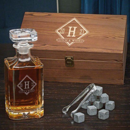 Crystal Whiskey Decanter Set
