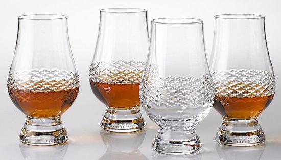Set of Four Crystal Glencairn Glasses