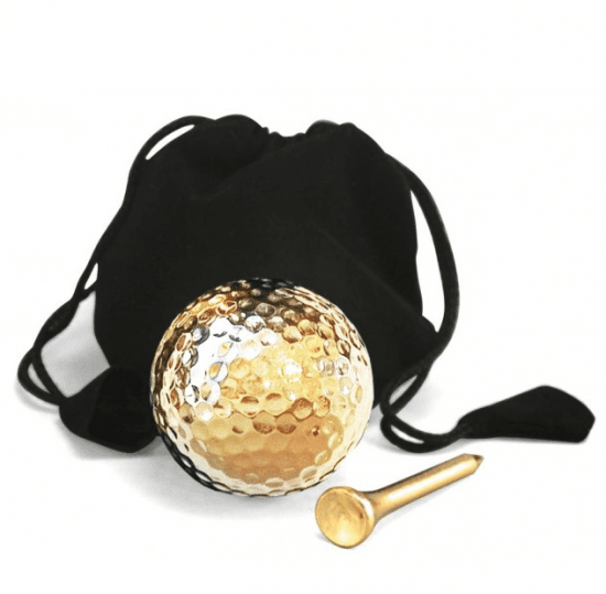 Eternity Rose Gold Plated Golf Ball and Tee Set