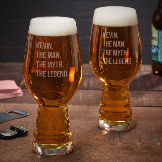 Set of Two Custom Spiegelau IPA Beer Glasses